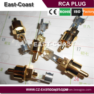 High quality RCA PLUG Gold Plating for wire soldering