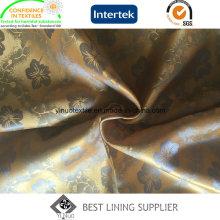 Fora do Desgaste Forro PV Jacquard Lining Fabric