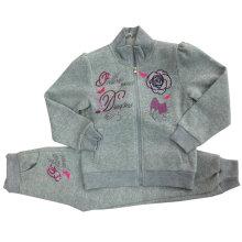 Chandail d'enfants polaire de haute qualité avec broderie dans les vêtements d'enfants pour les costumes de sport Swg-101