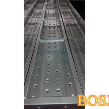 Plateaux d'échafaudage galvanisés utilisés pour le châssis de construction