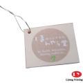 High quality paper garment apparel hang tags