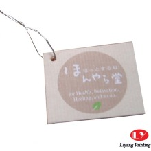 Étiquettes volantes de vêtements de papier de haute qualité