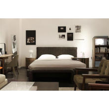 Italian Modern Furniture Bedroom Leather Bed (A-B41)