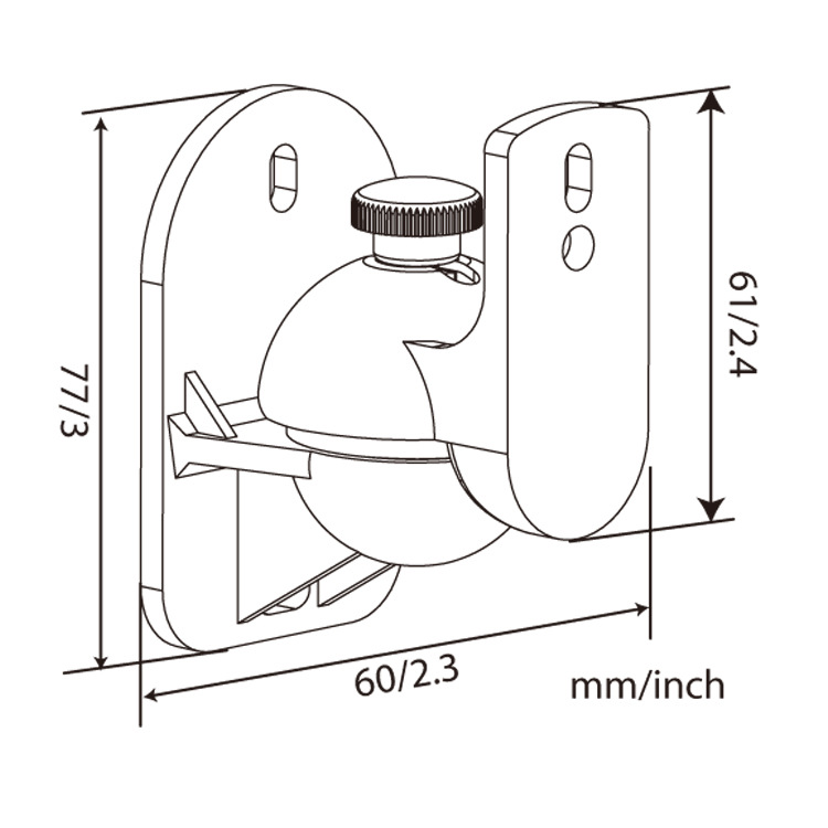 speaker wall mount sb03 size drawing 2