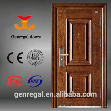 ISO9001 Yongkang 0.6mm Main Steel Doors