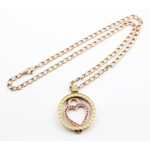 Fashion 316L Stainless Steel Locket Pendant Necklace