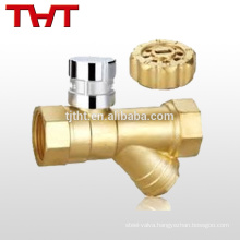 forged brass magnetic lockable angle water meter ball valve