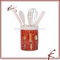 Porta utensilios de cerámica para cocina