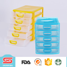 Good quality PP 5 layers file box mini office storage cabinet for sale