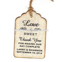 2015 Cadeau de Noël de luxe en forme de cru imprimé étiquette cadeau / étiquettes / étiquettes de suspension avec ruban