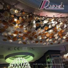 Lampe pendante de couleur accrochante de verre décoratif accrochant d'hôtel