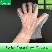 Clear Food Processing Einweg-HDPE Handschuh