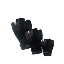 Black Acrylic Necklace Jewelry Display Set (NST-B3)