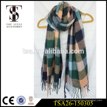 Accesorios de estilo superior promociones invierno oversized bufanda de acrílico hangzhou fábrica