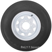 """Radial Trailer Tire (With 16"""" White Wheel)"""