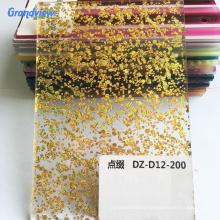 Gold sliver Glitter Acrylic Sheet colorful Sparkle acrylic sheet