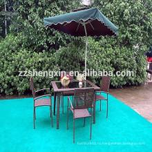 Наружный обеденный стол и стулья из ротанговой садовой мебели