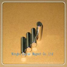 N48h niquelado cilindro permanente imán de NdFeB