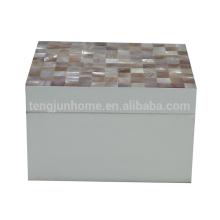 Eco amigável moda mar conchas caixa de jóias para decoração de casa