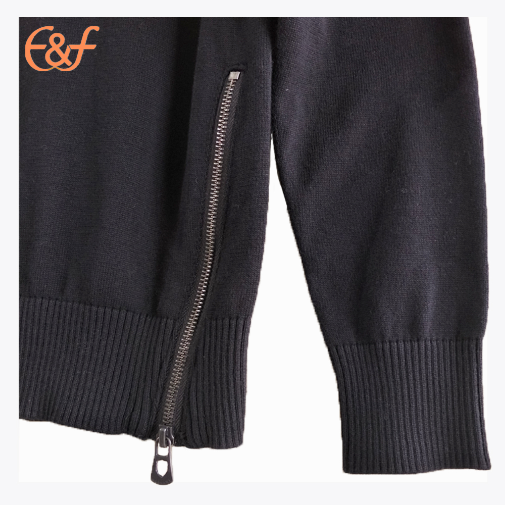 Fashion mens sweaters with ornamental zip
