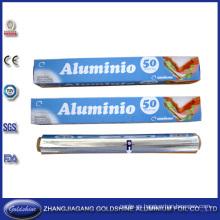 Venta al por mayor rodillo del papel de aluminio de la categoría alimenticia 50m