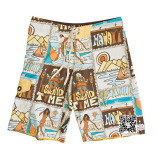 100% Polyester Material Surf Board Shorts and Men Gender Beach Shorts