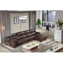 Coffee Color Electric Type L Shape Recliner Sofa (9220)