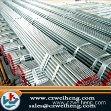 ERW galvanized hot rolled steel round pipe 22