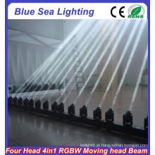 2015 China hotsale RGBW 4in1 4x10w conduziu o feixe principal movente
