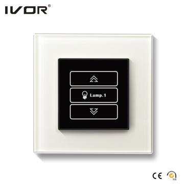 Cadre de contour de verre à 1 Gang Dimmer Switch (HR1000-GL-D1)