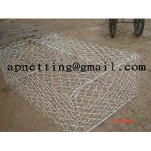 treillis métallique hexagonal vert terramesh