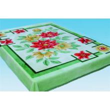Китай фабрика продает 100% полиэстер цветочным узором печатных флисовой одеяла с лучшей ценой