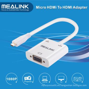 Adaptador de cable de audio HDMI Mirco a VGA