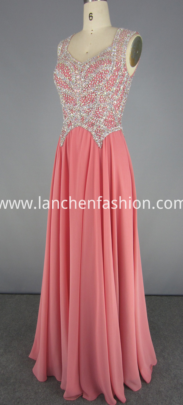 Chiffon Gowns with Beading