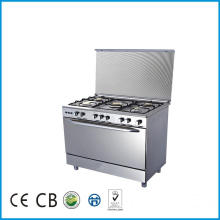 Free Standing 5 Burner Gas Range Cooker Stove with Oven