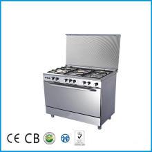 Cocina de la estufa de gas de la estufa de pie libre de 5 quemadores con el horno