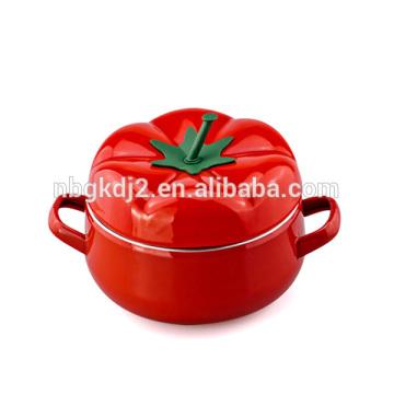 5pcs Tomato Enamel Pot Milk Pot Soup Pot