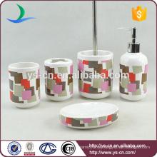 Zylindrische bunte Keramik Badezimmer Zahnbürste Box