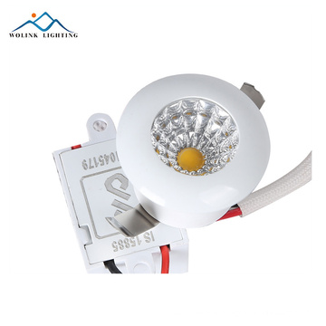 Factory price cool White IP44 emergency aluminum 1w led spot light