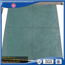 Revêtement de sol en caoutchouc de plancher en caoutchouc extérieur