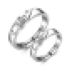 Anillo de apertura de la letra de la manera de los amantes de la plata esterlina 925 y mldr;