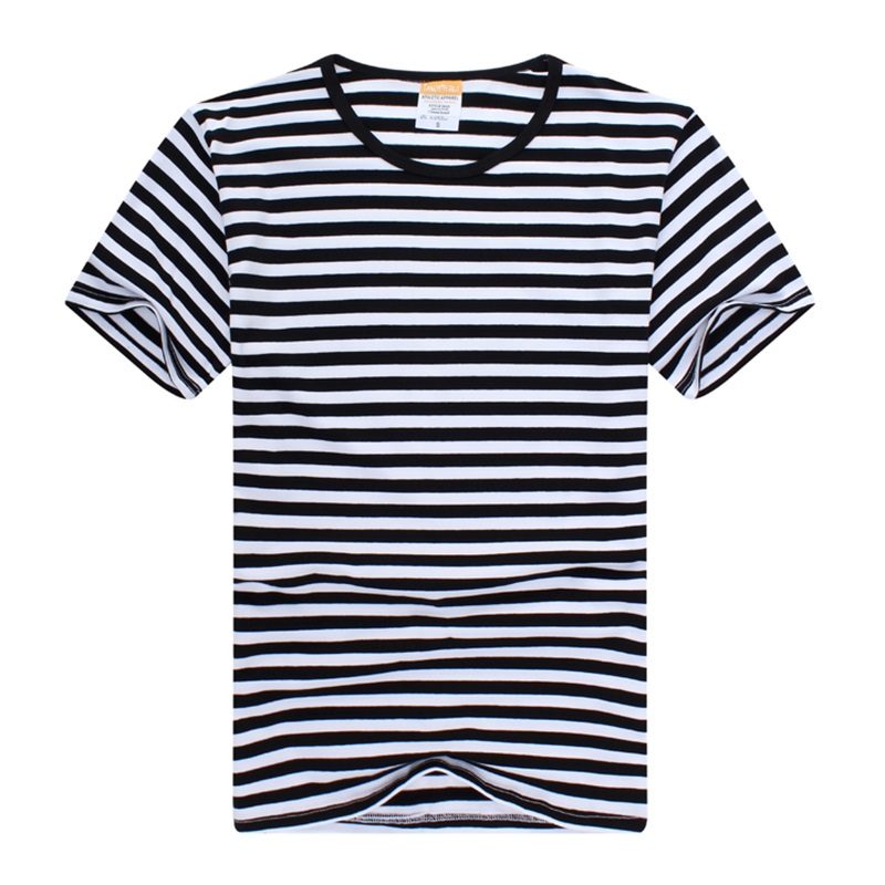Black White Striped Shirt Mens