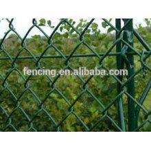 Двор зеленый цепи ссылка забор/ ПВХ покрытием загородка звена цепи
