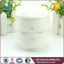 Heißer Verkaufs-Großverkauf-weißer keramischer kreativer Akolyt-Schale