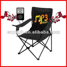 MP3 camping chair with cup holder