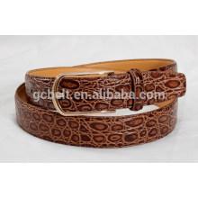 Мужской пояс из 3 см коричневого цвета с модным поясом PU