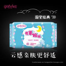 Almohadillas menstruales certificadas de algodón orgánico durante la noche