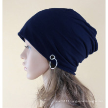 Fashion Metal Ring Cotton Knitted Winter Warm Ski Hat (YKY3127)