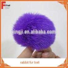 rabbit fur pom poms ball for keychain
