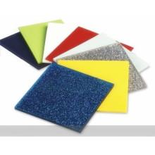 OLEG 3mm Thick Custom Size Decorative Patterned  Glitter Marble Acrylic Sheet